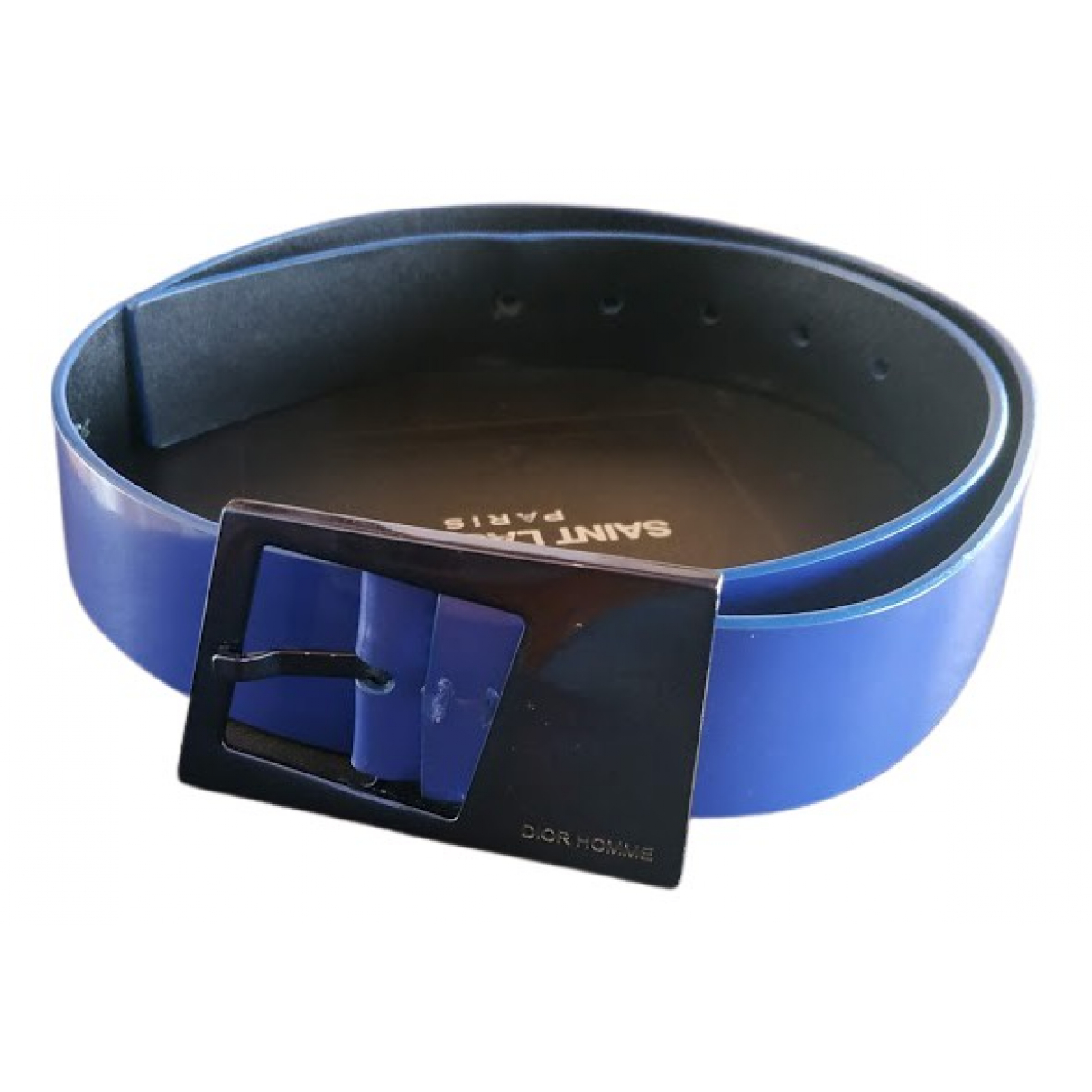 Dior N Blue Patent leather belt for Men 85 cm