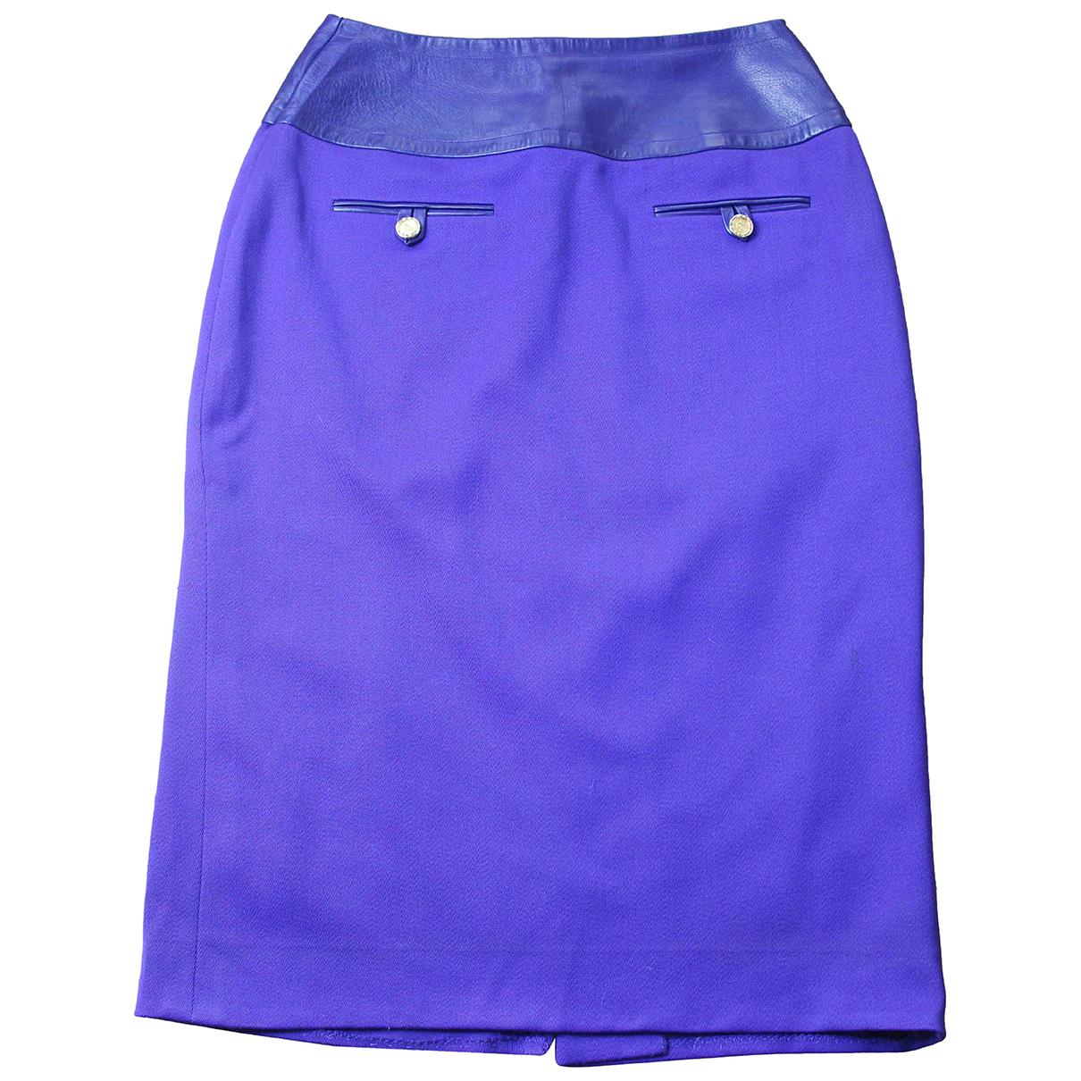 Celine - Jupe   pour femme en laine - violet