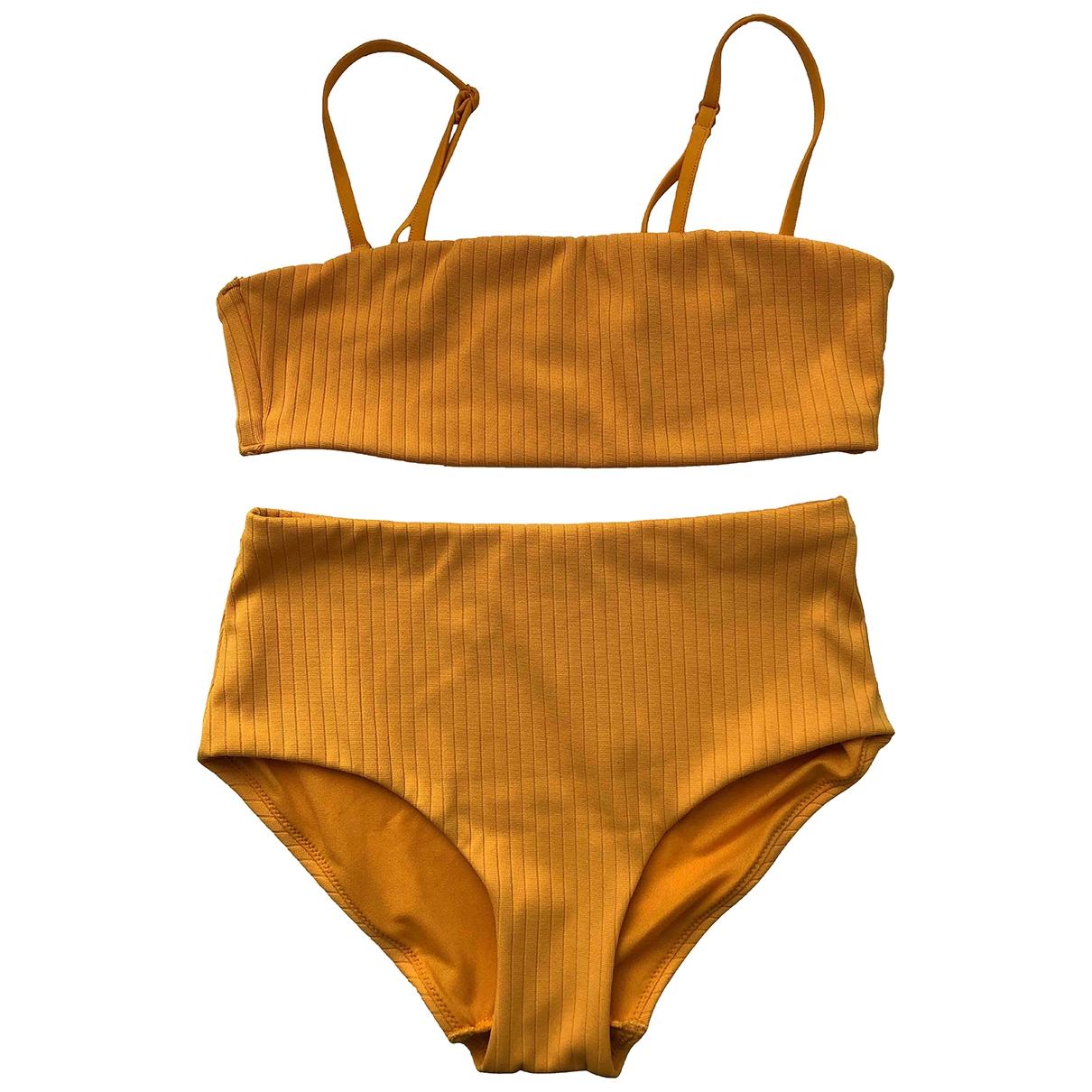 Weekday \N Badeanzug in  Gelb Polyester