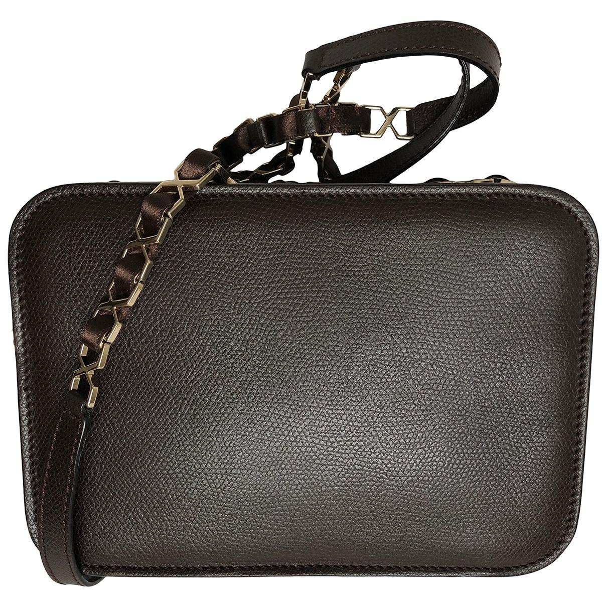 Valextra \N Handtasche in  Braun Leder