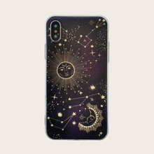Moon & Star Print iPhone Case