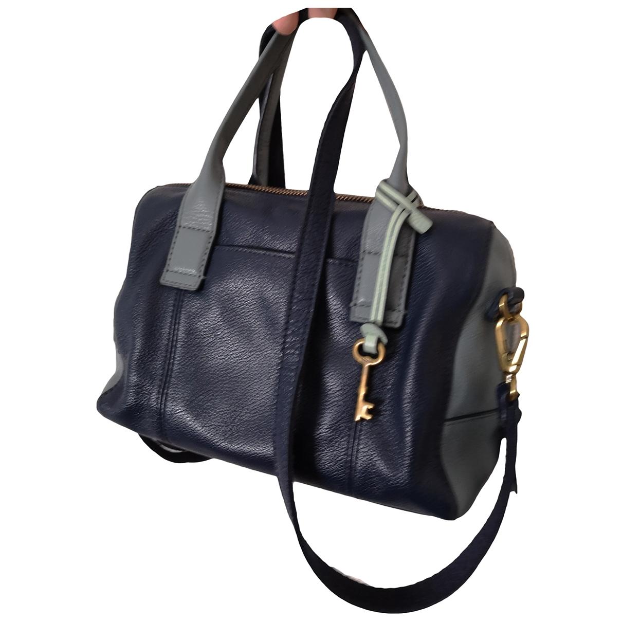 Fossil \N Handtasche in  Marine Leder