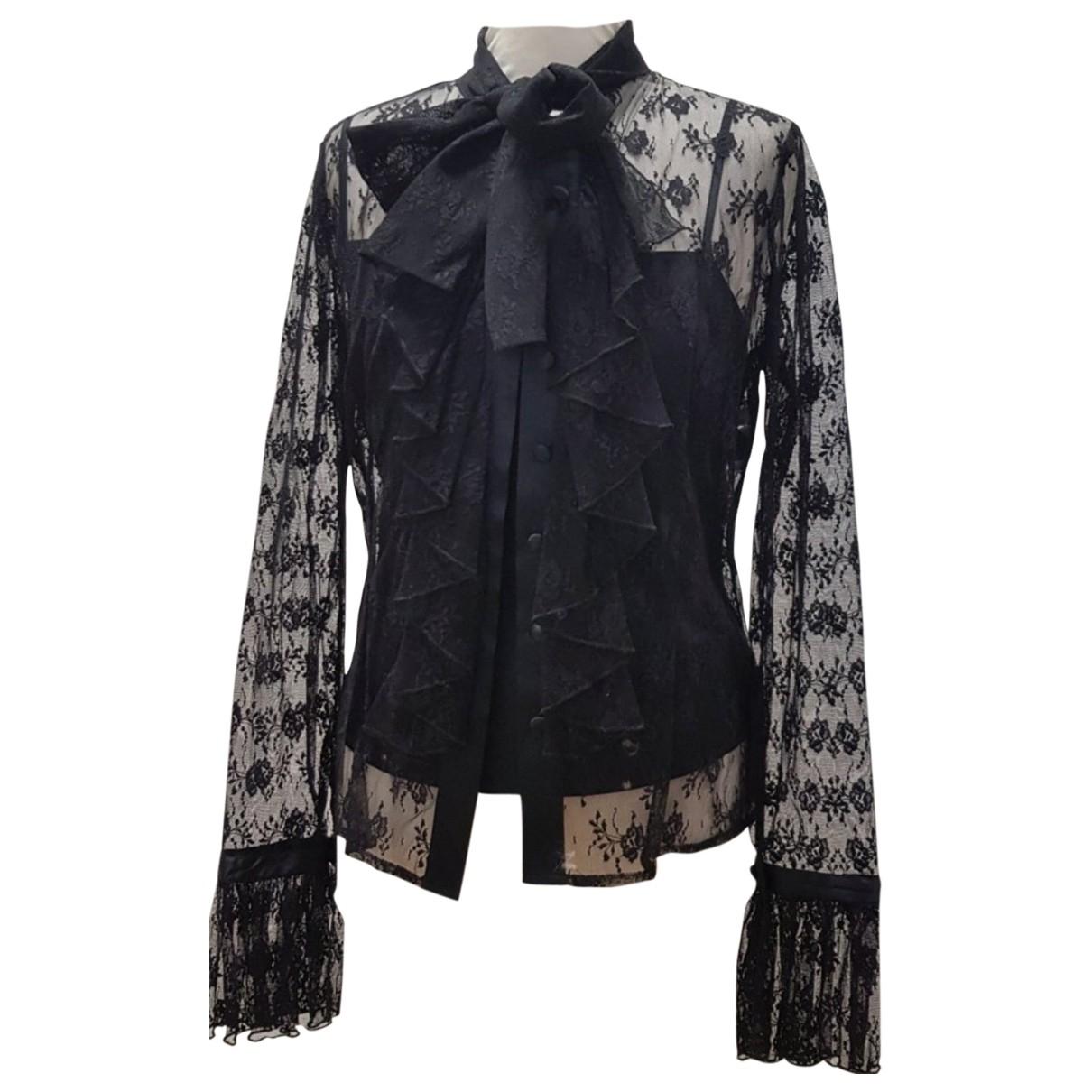 Elegance Paris \N Black Silk  top for Women 38 FR