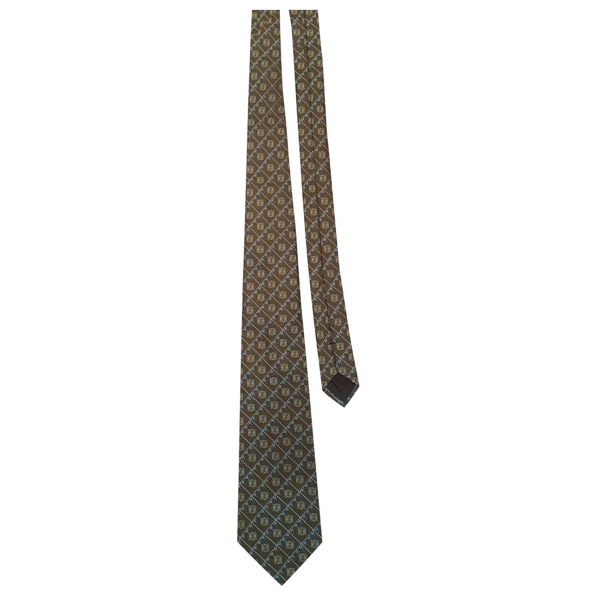Loewe \N Krawatten in  Braun Seide