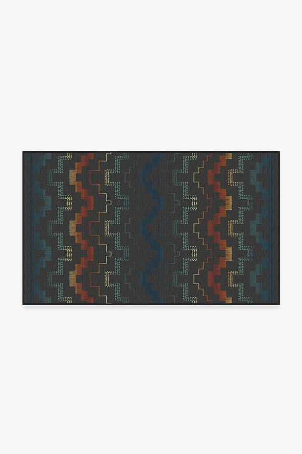 Washable Rug Cover   Outdoor Meseta Multicolor Rug   Stain-Resistant   Ruggable   3'x5'
