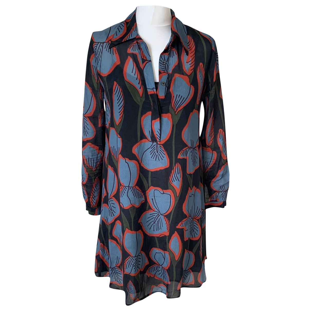 Ottodame - Robe   pour femme en soie - ecru