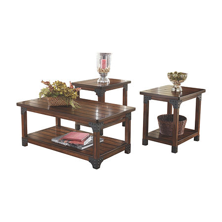 Signature Design by Ashley Murphy Coffee Table Set, One Size , Brown
