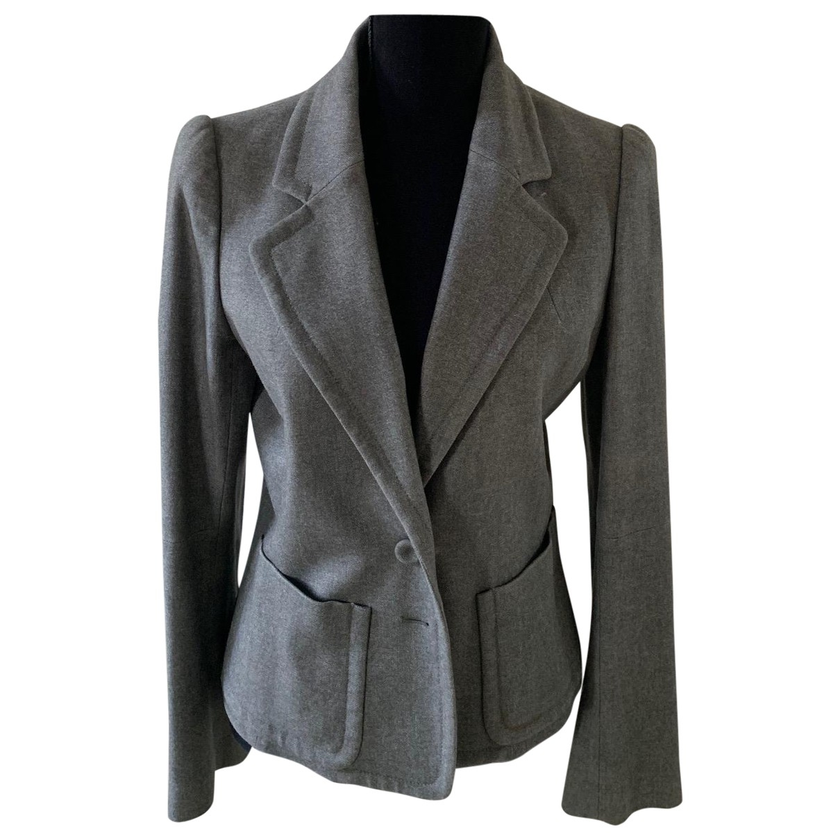 Kenzo \N Anthracite Wool jacket for Women 42 FR