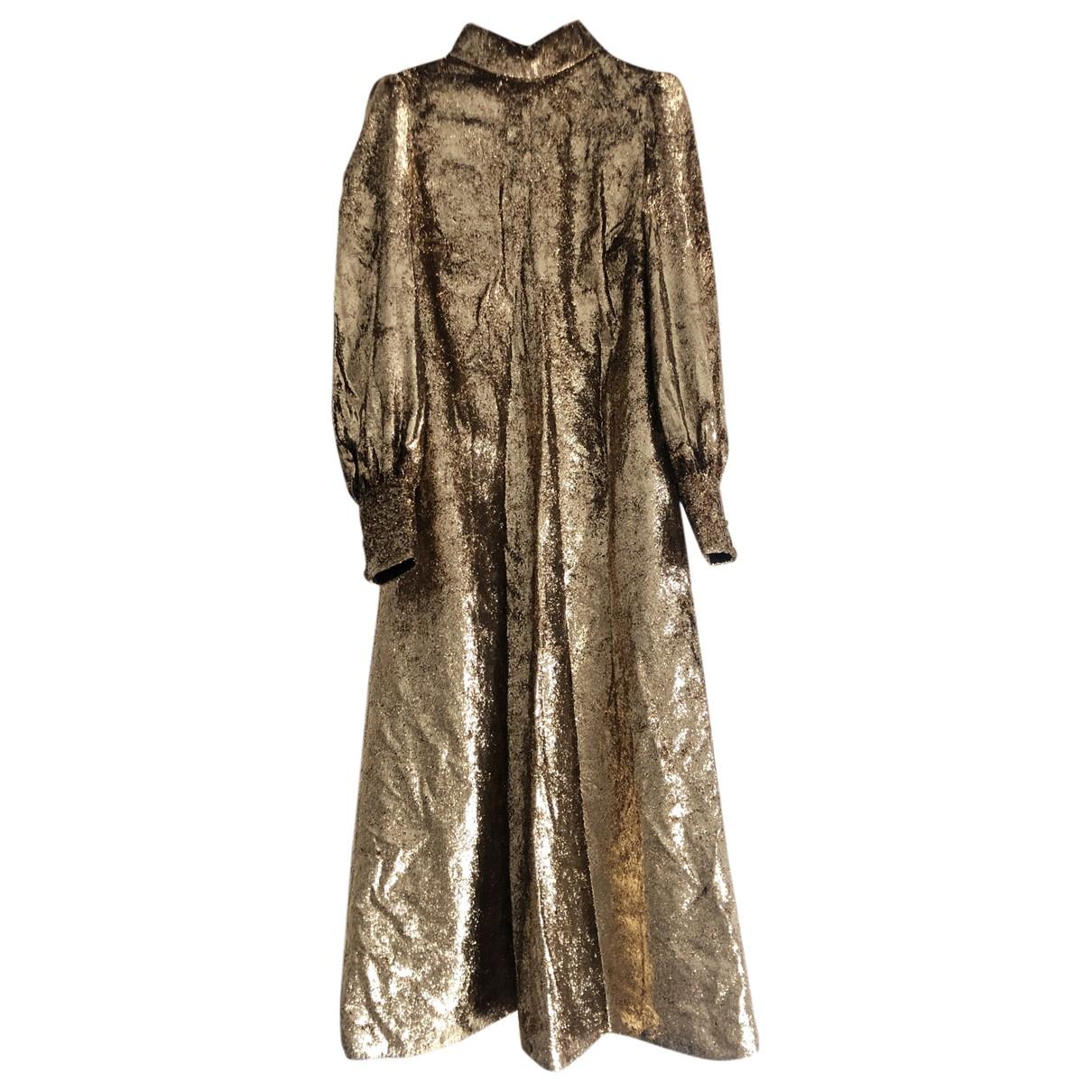 Saint Laurent \N Gold Glitter dress for Women 36 FR