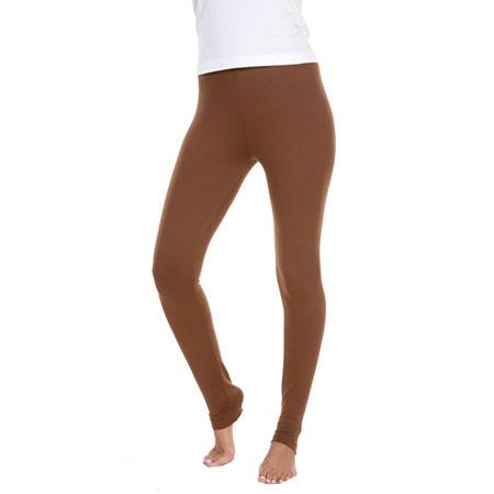 White Mark Womens Mid Rise Legging, X-large , Brown