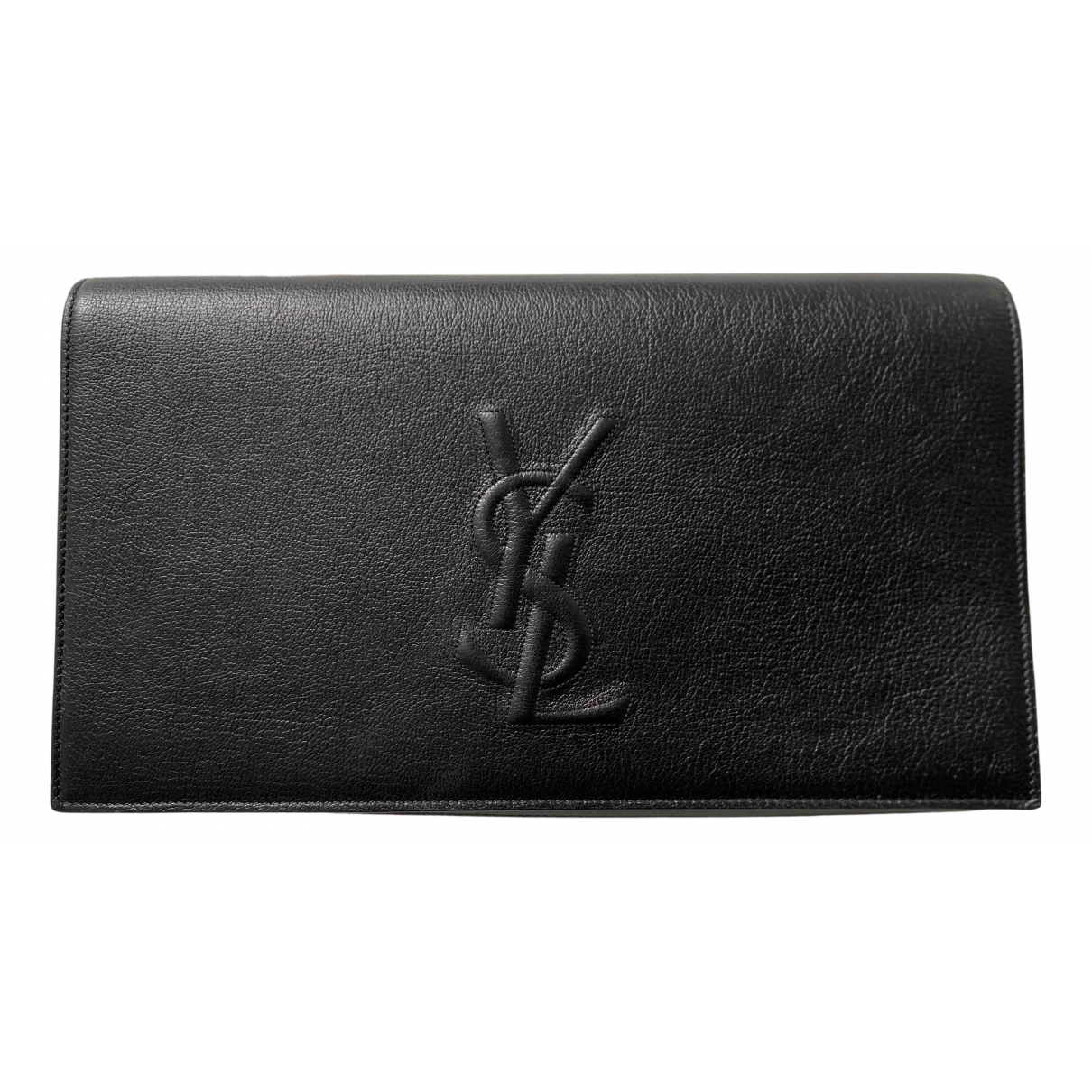 Yves Saint Laurent - Pochette Belle de Jour pour femme en cuir - noir