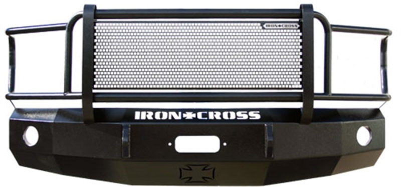 Iron Cross 24-325-15 Heavy Duty Grill Guard Front Bumper - Gloss Black GMC Sierra 2500 | 3500 2015-2019