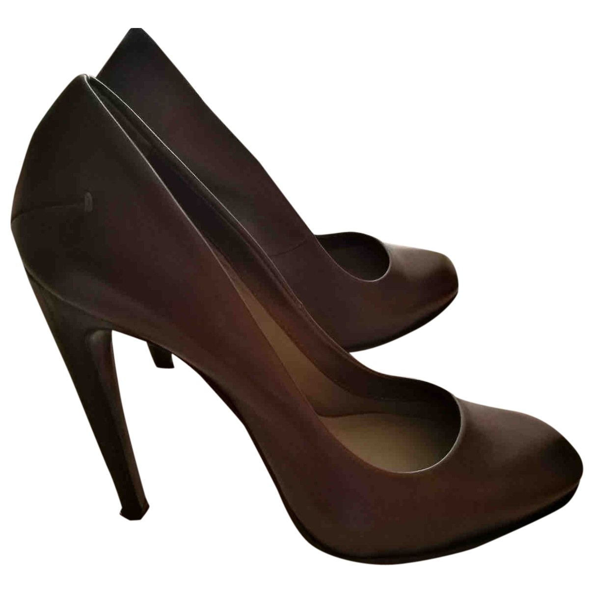 Costume National \N Brown Leather Heels for Women 37 EU
