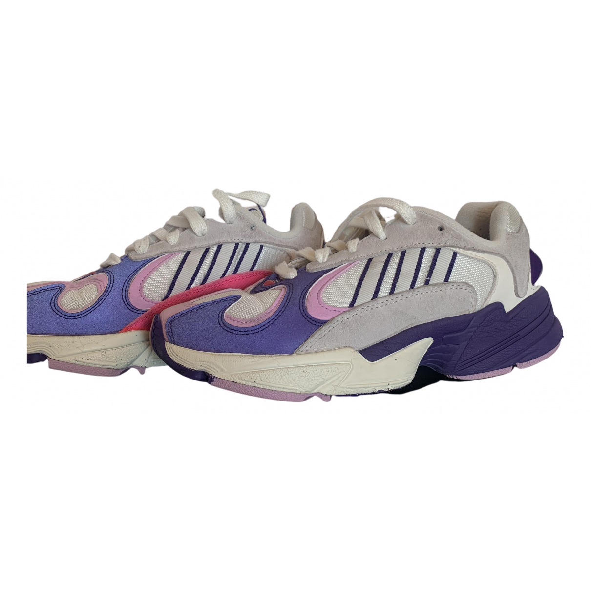 Adidas Yung-1 Sneakers in  Lila Kunststoff