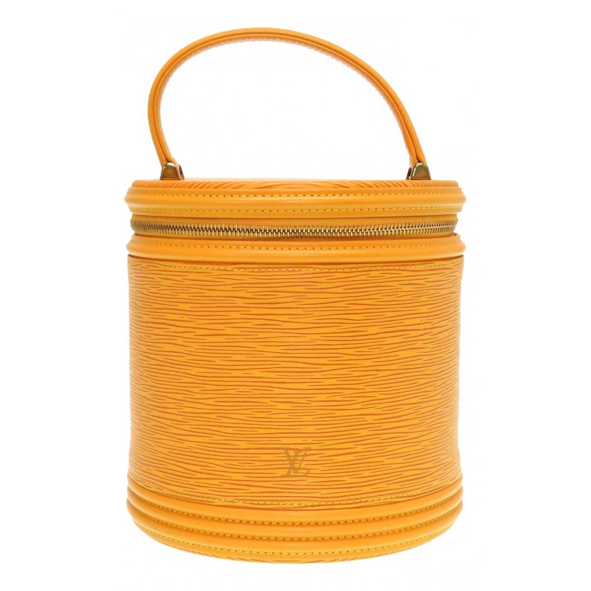 Louis Vuitton - Sac a main Cannes pour femme en cuir - jaune