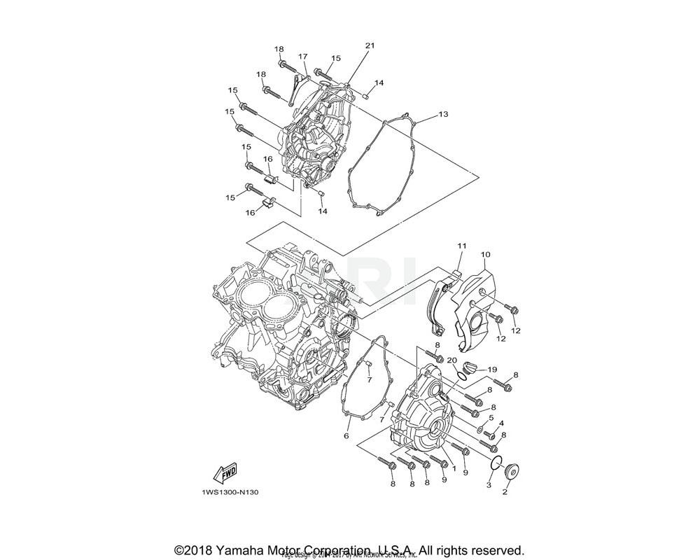 Yamaha OEM 3F9-15362-10-00 PLUG, OIL LEVEL