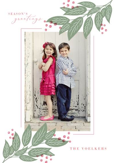 Christmas Photo Cards 5x7 Cards, Standard Cardstock 85lb, Card & Stationery -Seasons Greetings to You