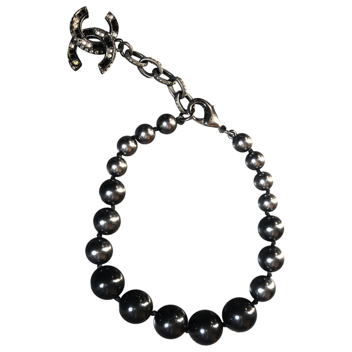 Chanel - Bracelet   pour femme en metal - anthracite