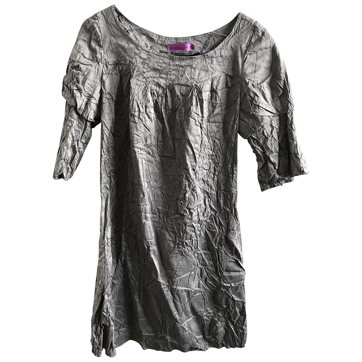 Christiane Celle - Robe   pour femme en soie - gris