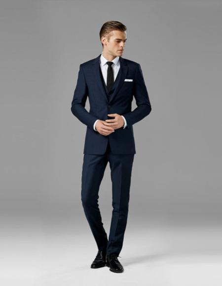 Mens Navy Blue best Suit buy one get one suits free Suit