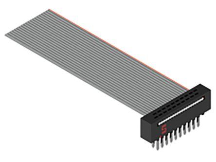 Samtec FFMD Ribbon Cable Assembly, IDC Plug to IDC Plug, 304.8mm