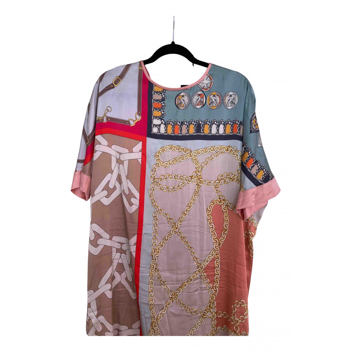 Marc Cain - Robe   pour femme en soie - multicolore