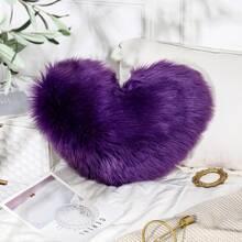 Kunstpelz Kissenbezug mit Herzen Muster ohne Fuelle