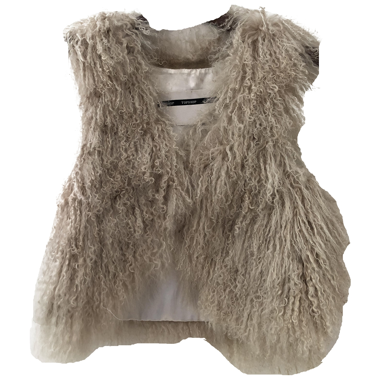 Tophop Boutique \N Jacke in  Weiss Wolle