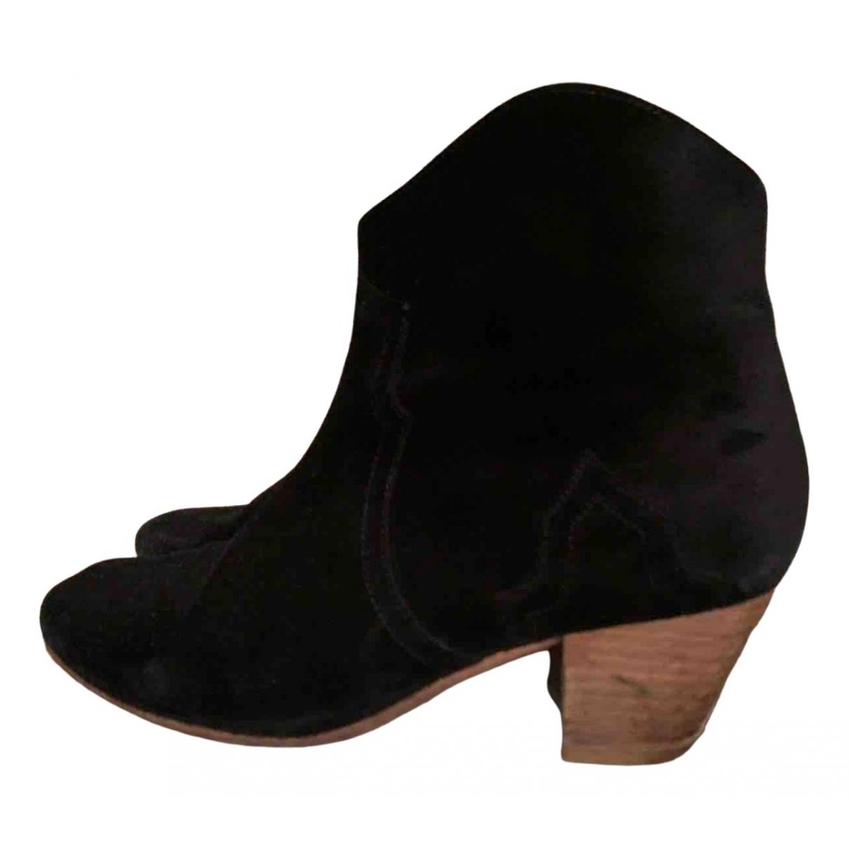 Isabel Marant - Boots Dicker pour femme en suede - noir