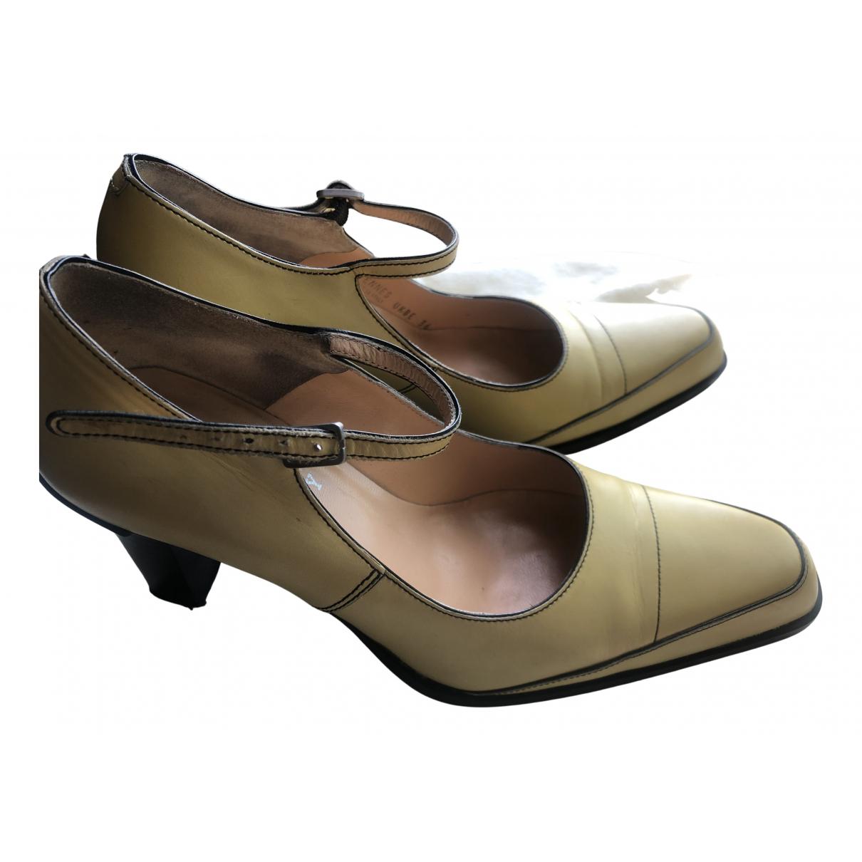 Bally - Escarpins   pour femme en cuir - jaune