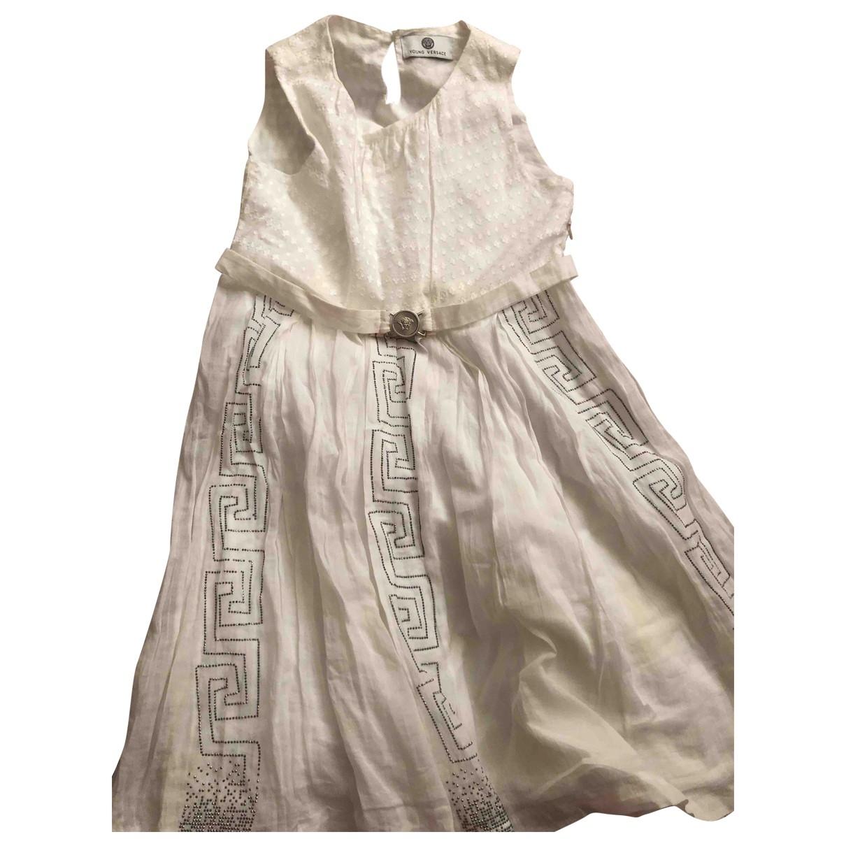 Versace - Robe    pour enfant en coton - blanc