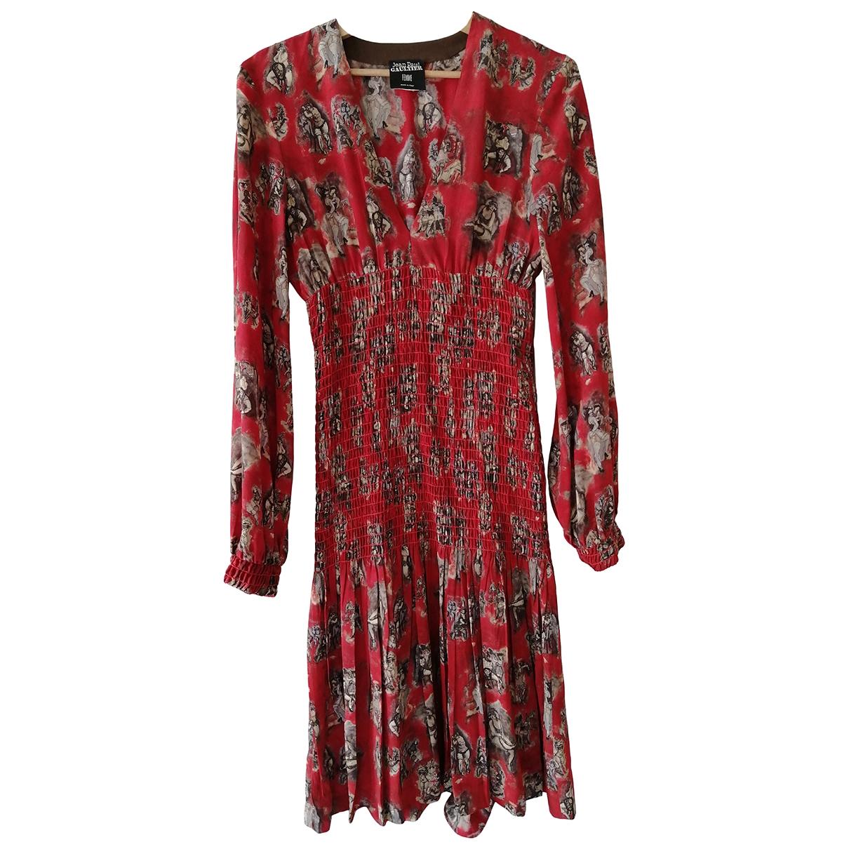 Jean Paul Gaultier \N Kleid in  Rot Seide