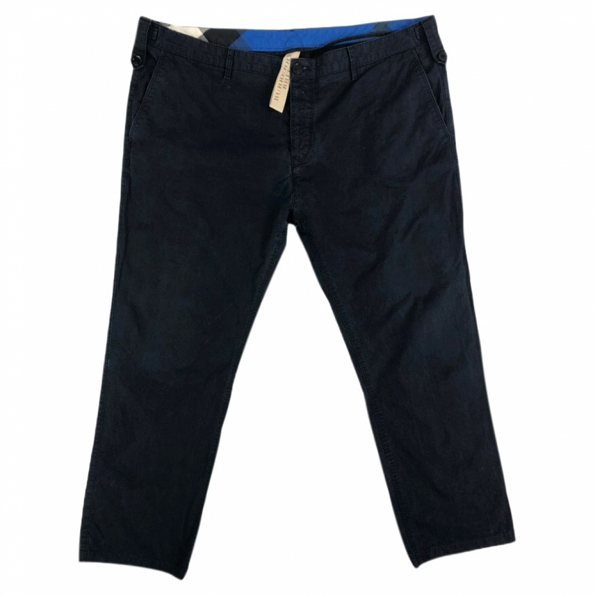 Burberry \N Blue Cotton Trousers for Men 40 UK - US
