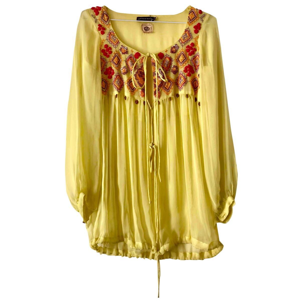 Antik Batik \N Yellow  top for Women M International
