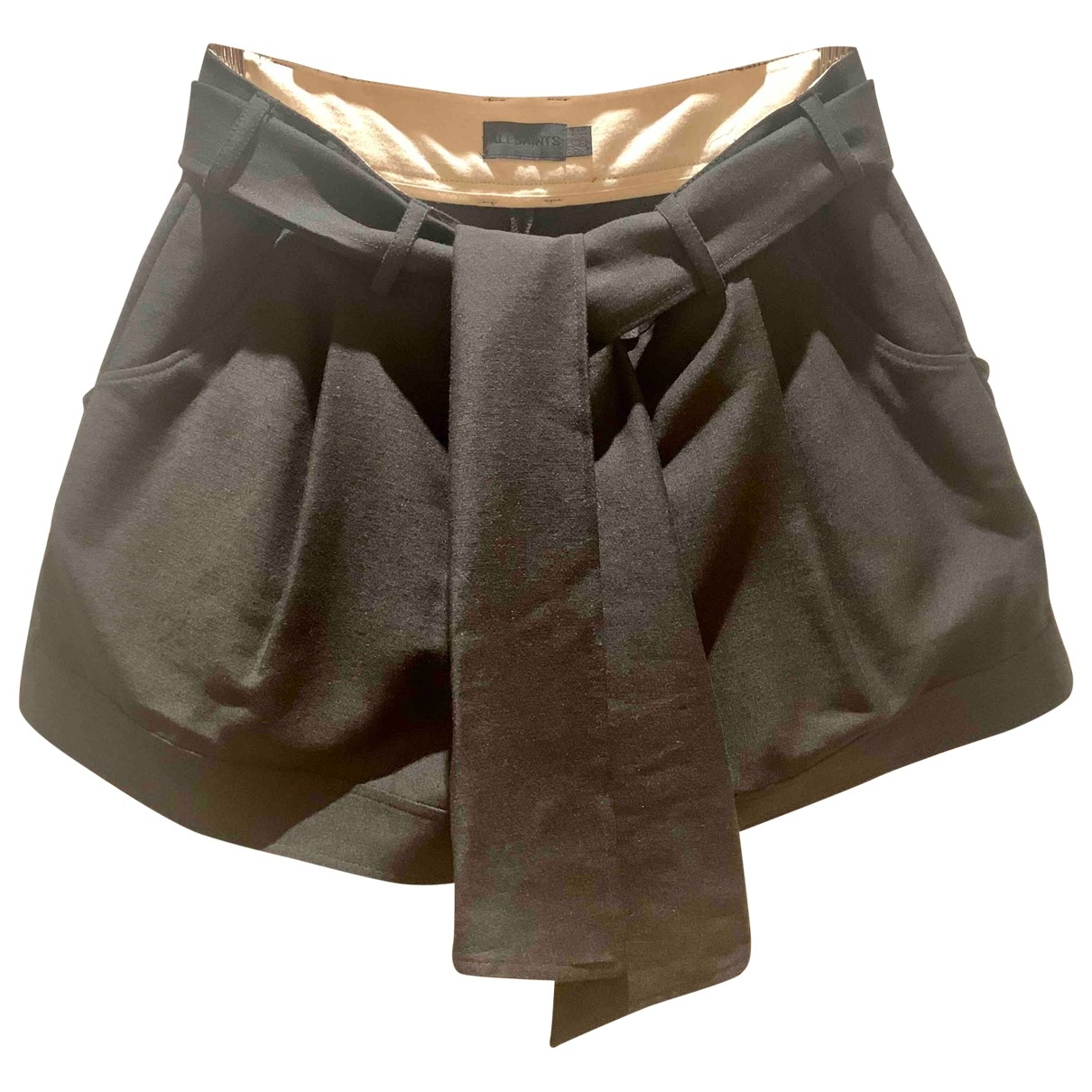 All Saints \N Shorts in  Schwarz Wolle