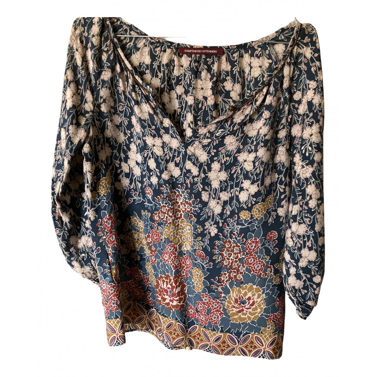 Comptoir Des Cotonniers - Top   pour femme en soie - multicolore