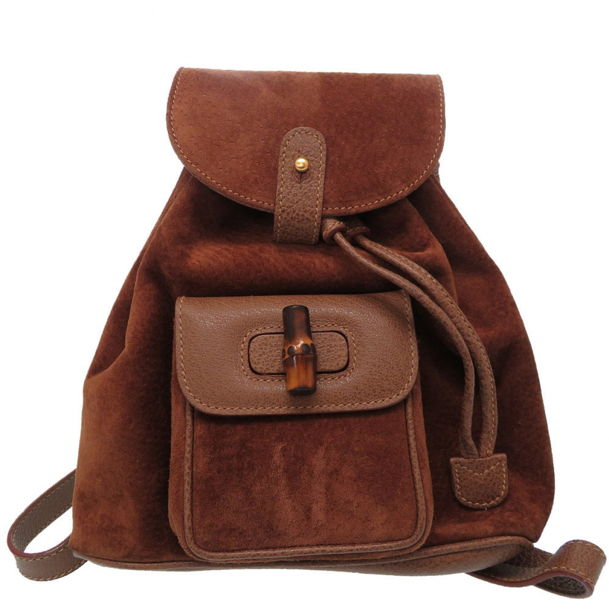 Gucci Bamboo Brown Suede backpack for Women \N