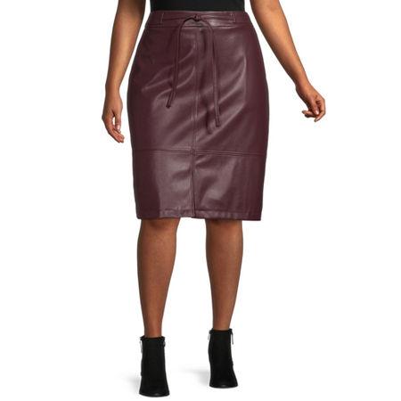 Liz Claiborne Womens Tie Skirt - Plus, 22w , Purple