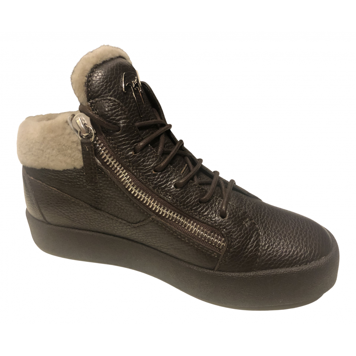 Giuseppe Zanotti \N Sneakers in  Braun Leder