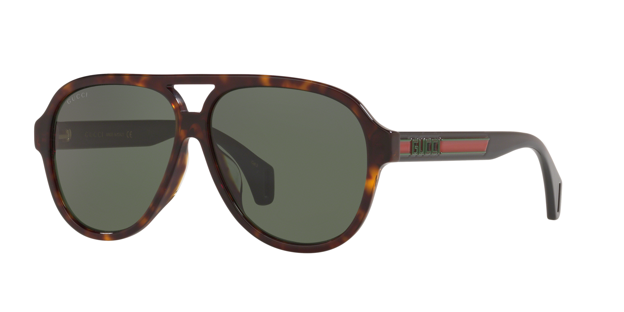 Gucci Unisex  GC001216 -  Frame color: Habana, Lens color: Verde
