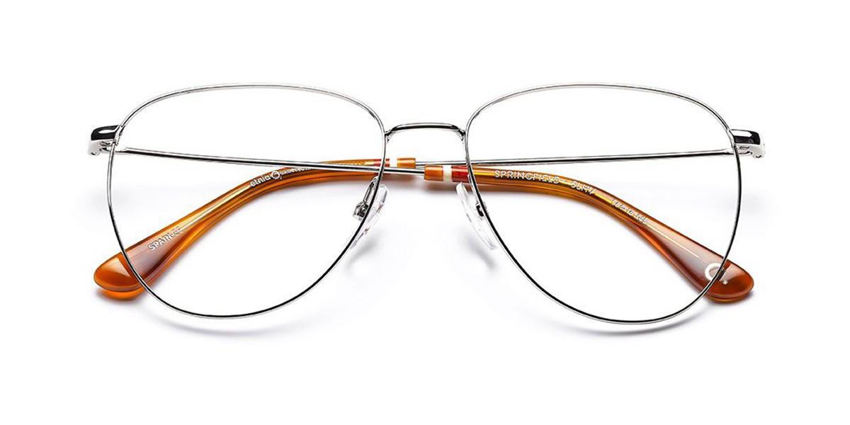 Etnia Barcelona Springfield SLHV Women's Glasses Silver Size 56 - Free Lenses - HSA/FSA Insurance - Blue Light Block Available