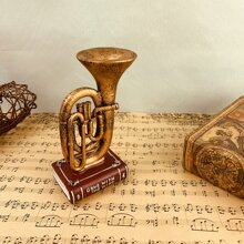 1pc Tuba Shaped Vintage Ornament