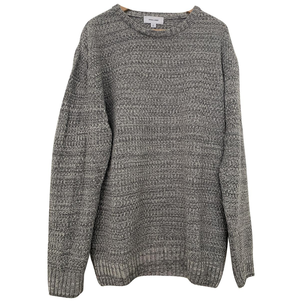 Soulland \N Pullover.Westen.Sweatshirts  in  Grau Wolle