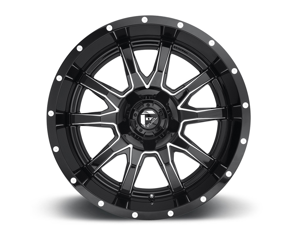Fuel D627 Vandal Gloss Black & Milled 1-Piece Cast Wheel 20x12 5x114.3 5x127 -43mm