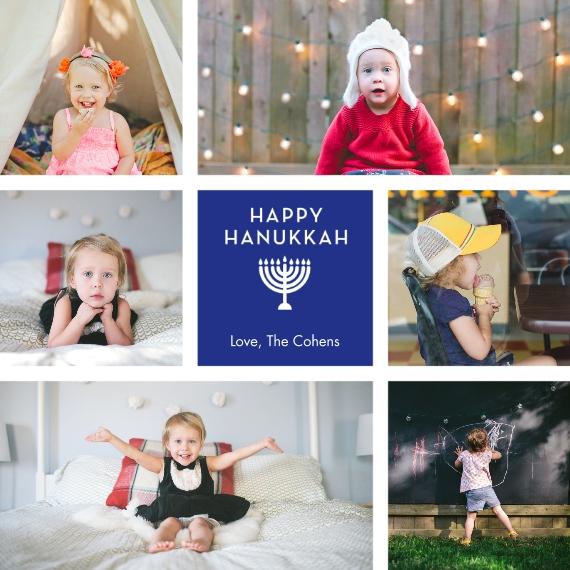 Hanukkah Photo Cards 5x5 Flat Card Set, 85lb, Card & Stationery -Hanukkah Menorah