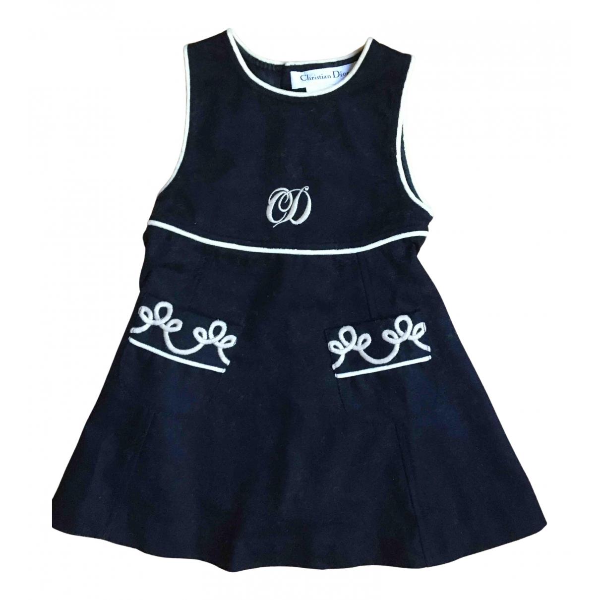 Dior - Robe    pour enfant en laine - marine