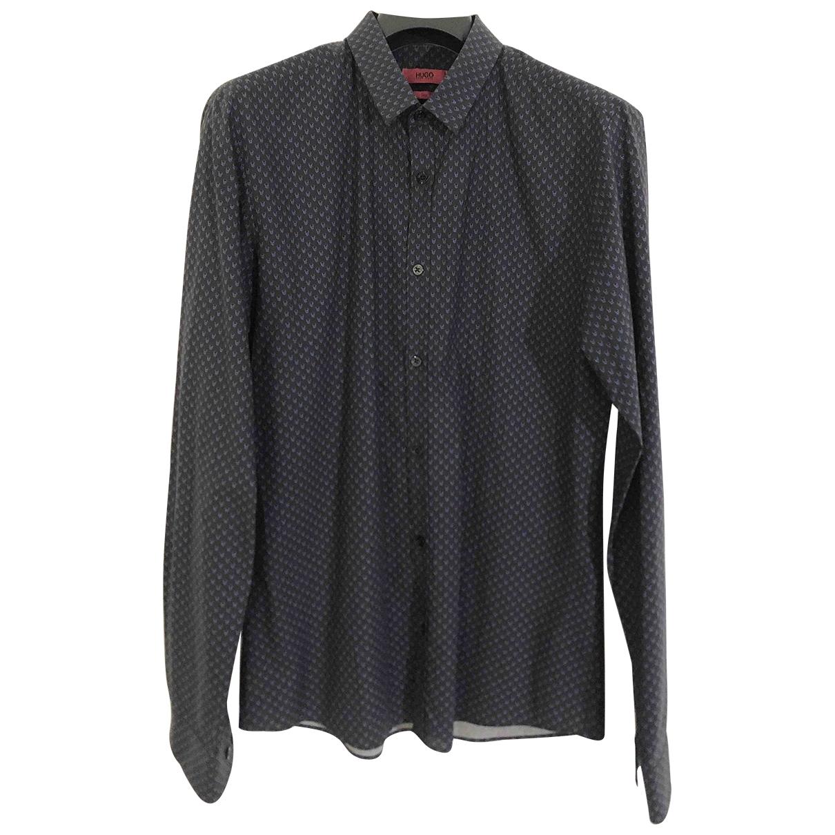 Hugo Boss - Chemises   pour homme en coton - anthracite