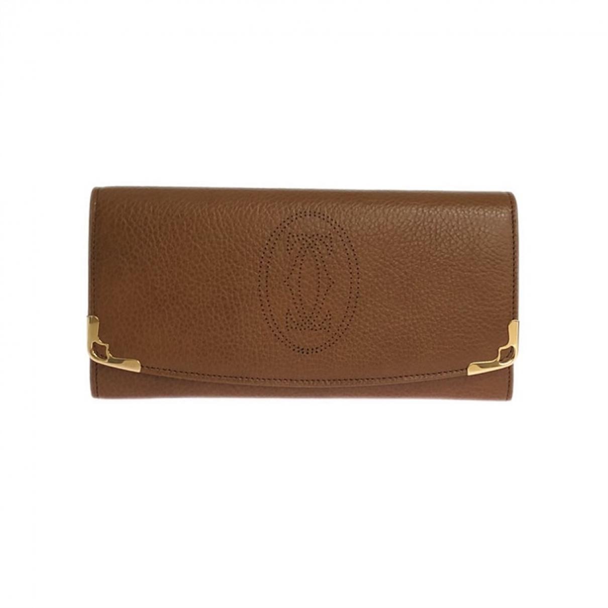 Cartier \N Portemonnaie in  Braun Leder