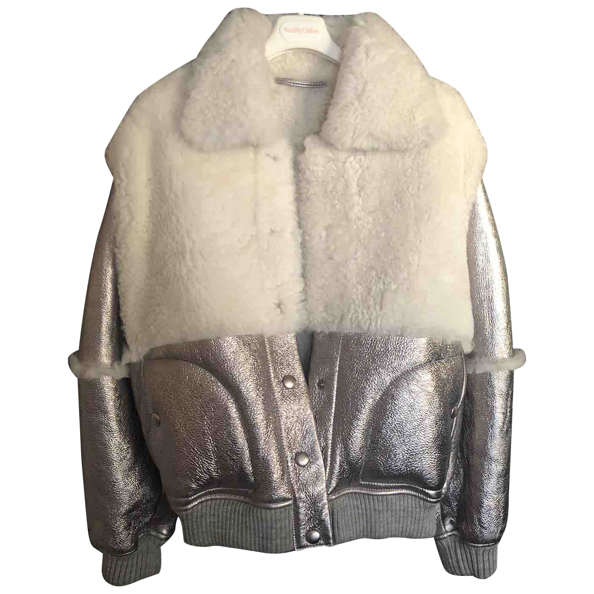 See By Chloé \N Silver Shearling Leather jacket for Women 36 FR