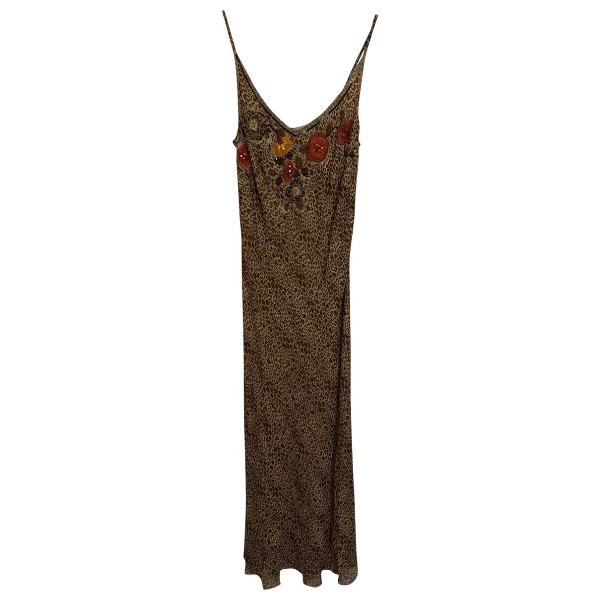 Maria Grazia Severi \N Kleid in  Braun Seide